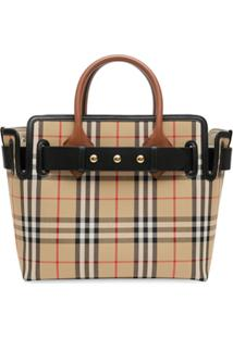 Burberry The Small Vintage Check Triple Stud Belt Bag - Marrom