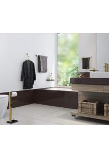 Porta Shampoo Em Inox Gold Go5011 Vidro Ducon Metais Transparente
