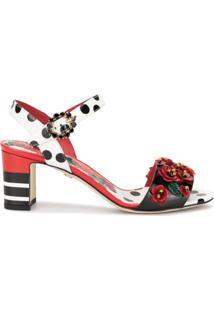 Dolce & Gabbana Sandália Com Estampa Floral - Estampado