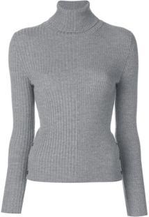 Thom Browne Suéter Listrado - Cinza