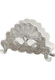 Porta Guardanapo Silver Plated Pavão - Lyor Classic - Prata