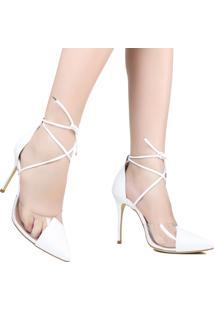 Sapato De Noiva Zariff Bico Fino Vinil