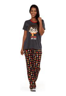 Pijama Manga Curta Harry Potter Adulto Pp