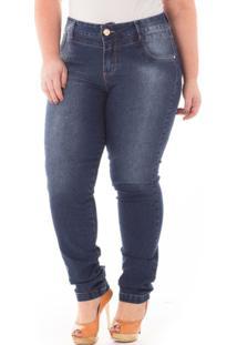 d208eef35 Netshoes. Calça Confidencial Extra Plus Size Jeans Cintura Alta ...
