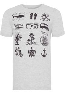 Camiseta Masculina Organizer - Cinza