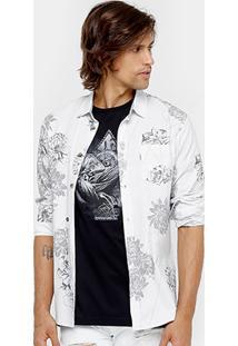 Camisa Mcd Geo Flowers Masculina - Masculino