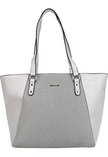 Bolsa Gash Shopper Recorte Feminina - Feminino-Cinza