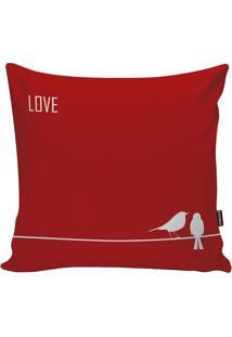 Capa De Almofada Red Love- Vermelha & Bege Claro- 45Stm Home