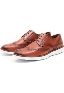 Sapato Brogue Conhaque Monbran Dressy 1240C Laranja