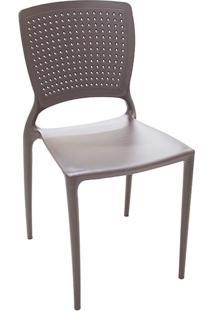 Cadeira Safira Polipropileno Marrom - Tramontina
