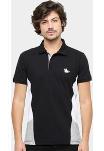 Camisa Polo Rg 518 Piquet Recorte Tricolor Usa Masculina - Masculino