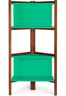 Estante Easy Cor Cacau Com Verde Anis - 29002 - Sun House