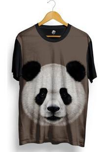 Camiseta Bsc Panda Full Print - Masculino-Preto