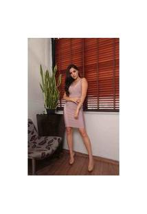 Vestido De Bandage Decote V Vesi80823 Rosa