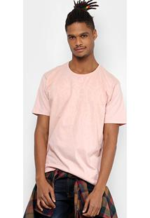 Camiseta Local Estampada Masculina - Masculino-Rosa