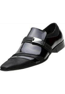 Sapato Social Paulo Vieira - Masculino-Preto