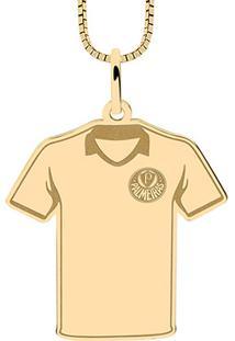 Pingente Palmeiras Infantil Camisa Folheado A Ouro - Unissex