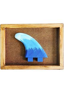 Quadro Soul Fins Decoração Quilha Surf Rústico Madeira Azul