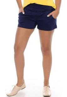 Shorts Curto Lauren B'Bonnie - Feminino-Marinho
