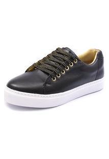 Tênis Sapatênis Shoes Grand Em Couro Preto