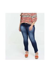 Calça Jeans Cigarrete Feminina Plus Size Biotipo