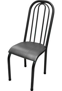 Cadeira Roma Alta Craqueado/Tick Listras Açomix