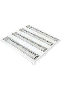 Luminária Led Td 60 Embutir 4X10W Taschibra Luz Branca Branco