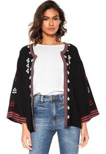 Kimono Anany Bordado Preta