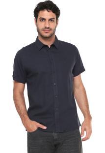 Camisa Linho Forum Smart Azul-Marinho