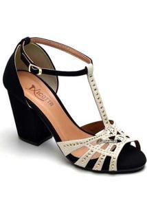 Sandália Top Franca Shoes Feminina - Feminino-Preto