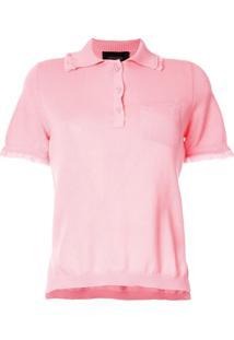 Mr & Mrs Italy Camisa Polo Com Barra Desfiada - Rosa