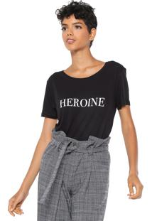 Camiseta Dzarm Heroine Preta
