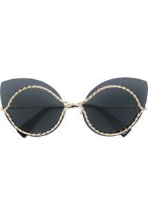 b2a6896193b05 ... Marc Jacobs Eyewear Óculos De Sol Gatinho - Preto