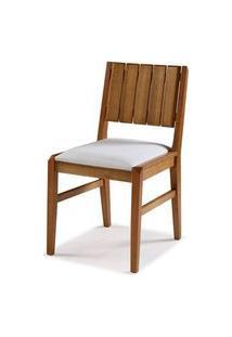 Cadeira Salvador Verniz Mel Estofada 43Cm - 60448 Preto