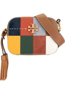 Tory Burch Bolsa Transversal Mcgraw Com Patchwork - Marrom