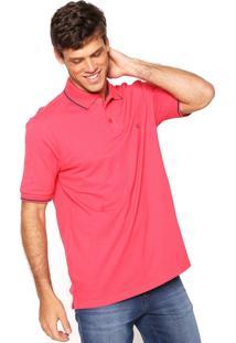 Camisa Polo Base Jeans Logo Coral