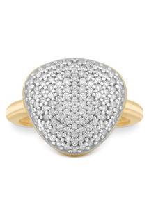 Anel Bold Ouro Amarelo E Diamantes Grande
