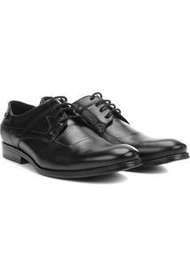 Sapato Social Couro Jorge Bischoff Bonn - Masculino-Preto