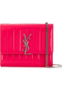 Saint Laurent Bolsa Tiracolo Vicky Mini - Rosa