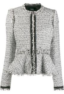 Karl Lagerfeld Jaqueta De Tweed Com Peplum - Branco