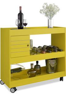 Aparador Bar Móveis Bechara Cristal Amarelo