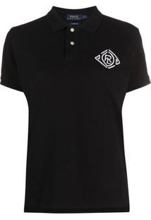 Polo Ralph Lauren Camisa Polo Com Logo Bordado - Preto
