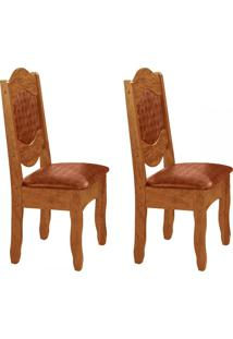 Cadeiras Kit 2 Cadeiras Imperial Iii Canela Rústico/Mar - Art Panta