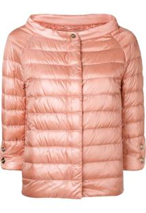 Herno Short Padded Jacket - Rosa