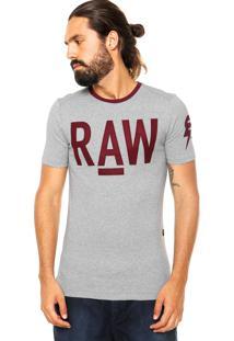 Camiseta G-Star Recortes Cinza