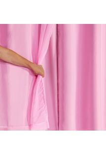 Cortina Blackout Pvc Com Tecido Voil 2,00 M X 1,40 M Rosa - Multicolorido - Dafiti