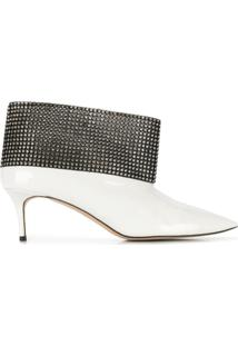 Christopher Kane Ankle Boot Com Cristais - Branco