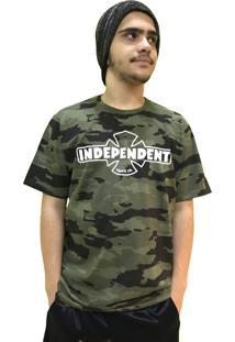 Camiseta Independent Especial Camuflada Verde