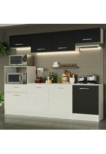Cozinha Completa Madesa Onix 240003 Com Armã¡Rio E Balcã£O - Branco/Preto 0977 Branco - Branco - Dafiti