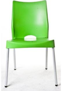 Cadeira Malba Base Fixa Pintada Cinza Cor Verde - 10312 Sun House